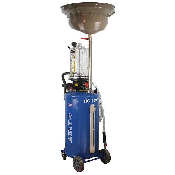 Установка для замены масла и антифриза AE&T HC-2197, 76л. фото