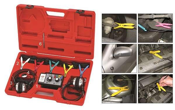 Стетоскоп электронный (наушники, тестер, зажимы, блок управления, магнитный датчик в комплекте). JTC