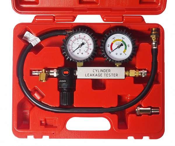 Набор для выявления утечек в цилиндрах, диапазон измерений 0-100PSI(0-700кПА) в кейсе. JTC-4208 купить