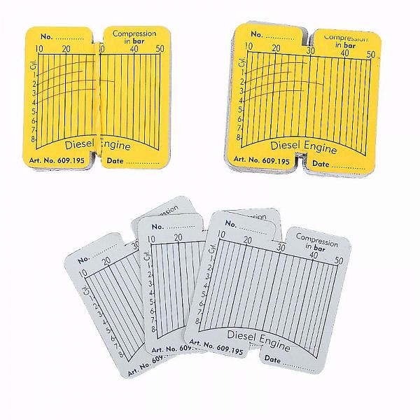 Сменные карточки для дизельного компрессографа CT-Z011 - 100 шт Car-Tool CT-Z011A1 фото