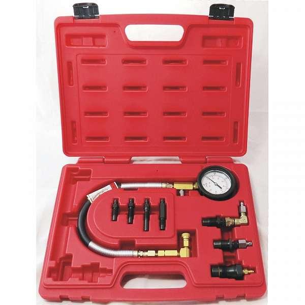 Компрессометр дизельный, 0-70 атм, кейс, комплект адаптеров,  МАСТАК 120-11009C купить