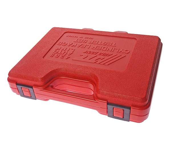 Набор для выявления утечек в цилиндрах, диапазон измерений 0-100PSI(0-700кПА) в кейсе. JTC-4208 купить в Москва