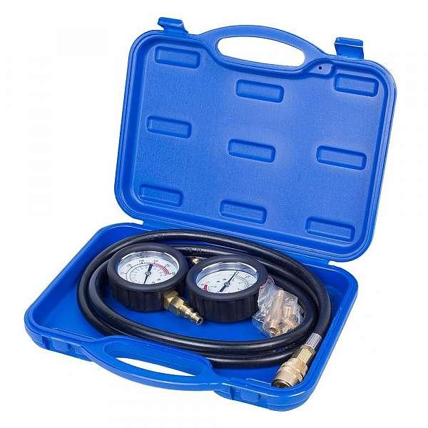 Манометр для измерения давления масла, два манометра, 0-7 и 0-20 бар,  МАСТАК 120-20028 купить