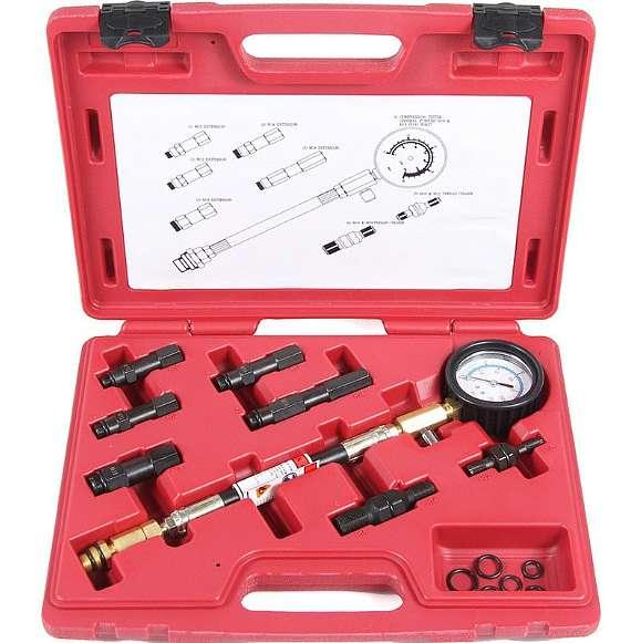Компрессометр профессиональный бензиновый, набор со сменными насадками Licota ATP-2073A фото