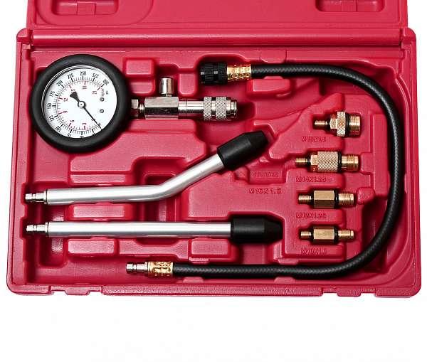Компрессометр для бензиновых двигателей с набором адаптеров. JTC-4077 купить