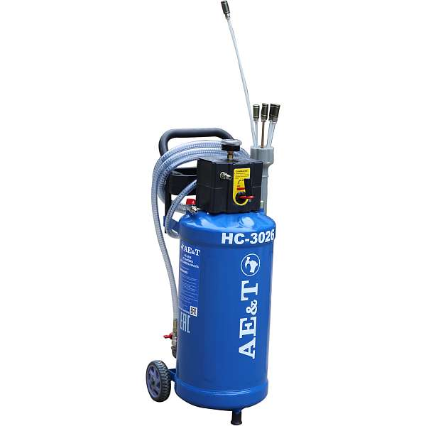 Установка для замены масла и антифриза AE&T HC-3026, 30л. фото