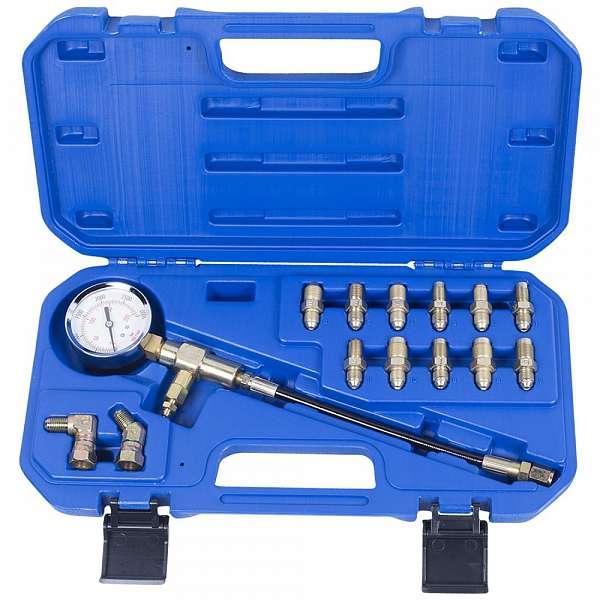 Манометр для измерения давления в тормозных системах, 14 предметов,  МАСТАК 120-50024C фото