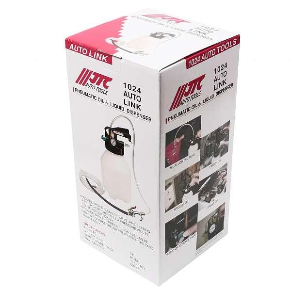 Приспособление для откачки и заправки технических жидкостей с пневматическим приводом, емкость 6л. JTC-1024 купить