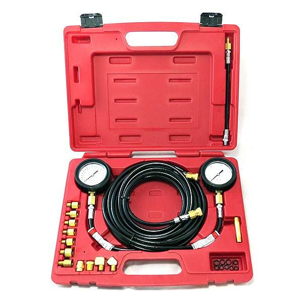 Манометр для измерения давления масла, 2 манометра 7 и 35 бар, комплект адаптеров,  МАСТАК 120-20023C купить