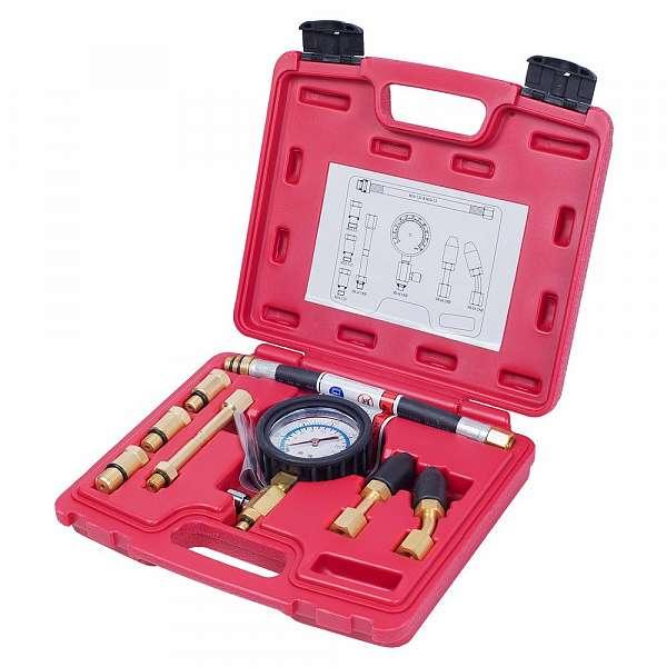 Компрессометр бензиновый, 0-21 атм, кейс, 8 предметов,  МАСТАК 120-10821C фото