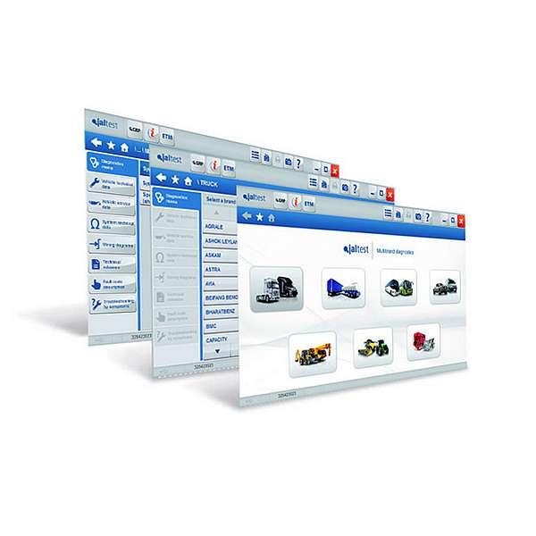 Программный модуль JALTEST SOFT для грузовиков, прицепов, автобусов и коммерческого транспорта фото