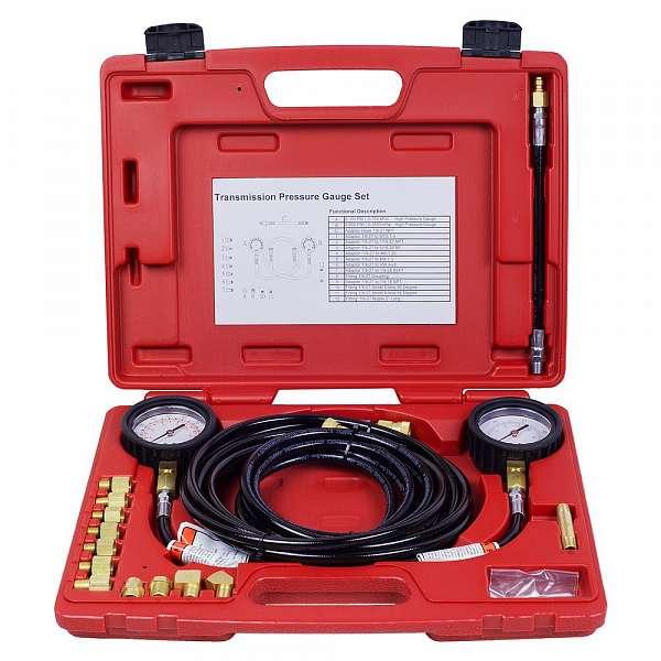 Манометр для измерения давления масла, 2 манометра 7 и 35 бар, комплект адаптеров,  МАСТАК 120-20023C фото