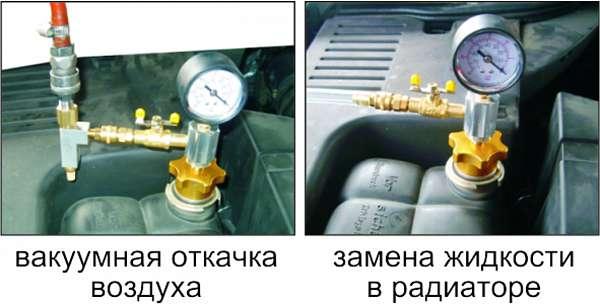 Набор для вакуумной откачки воздуха и замены жидкости в системе охлаждения (в кейсе). JTC-1536