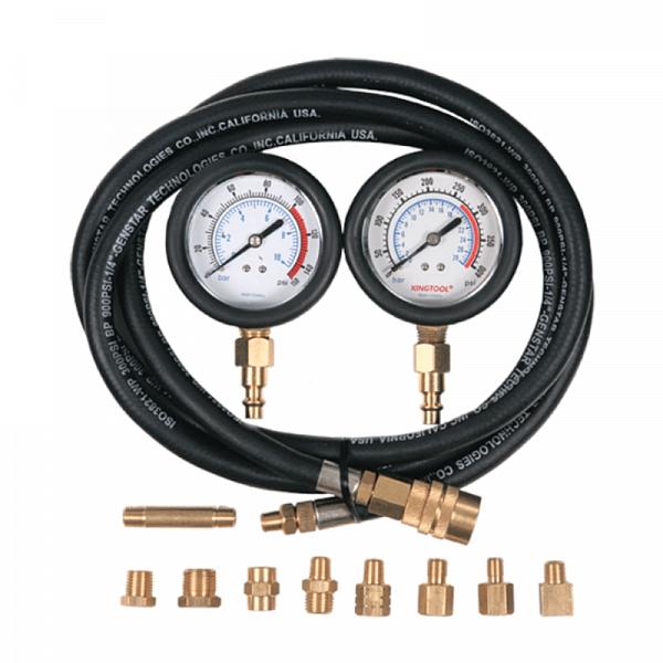 Манометр для измерения давления масла, два манометра, 0-10 и 0-28 бар  МАСТАК 120-20028C фото