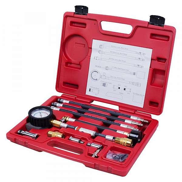 Компрессометр бензиновый, 0-21 атм, кейс, 19 предметов,  МАСТАК 120-10019C фото