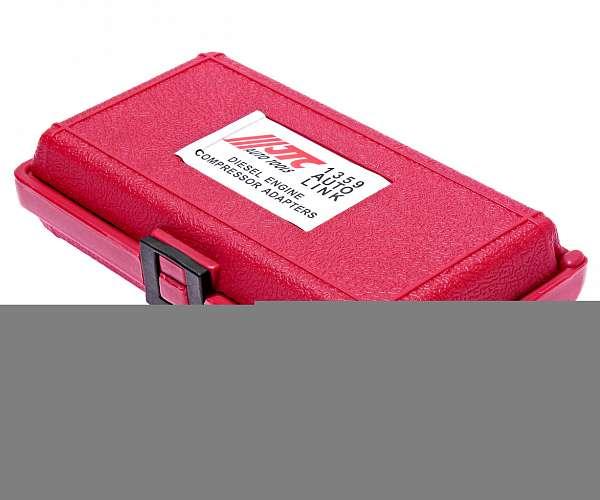 Набор адаптеров для компрессометра JTC-1364 (11 предметов). JTC-1359 купить в Москва