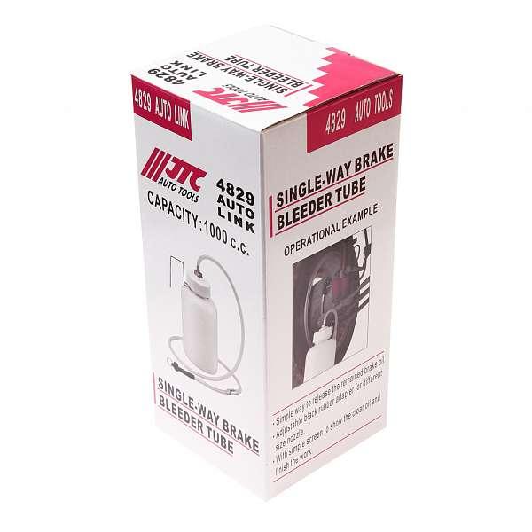 Приспособление для удаления (прокачки) тормозной жидкости, емкость 1л, длина трубки 1300мм. JTC-4829 купить