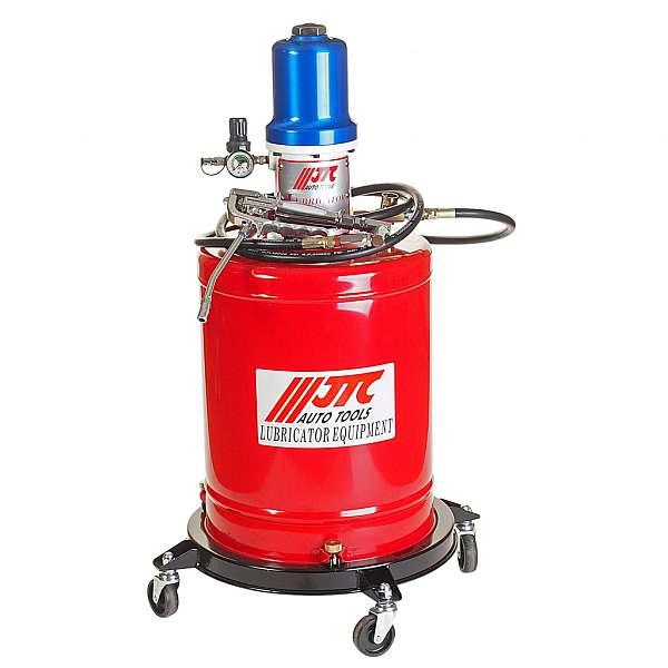 Установка для подачи смазки пневматическая, емкость бака 20л. JTC-1034 фото