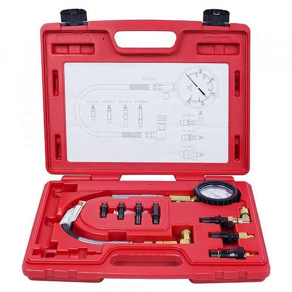 Компрессометр дизельный, 0-70 атм, кейс, комплект адаптеров,  МАСТАК 120-11009C фото