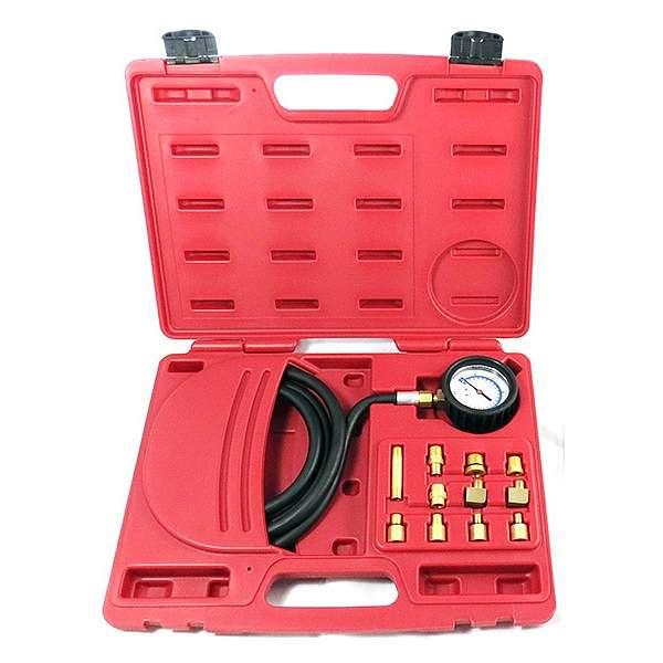 Манометр для измерения давления масла, 0-21 бар, комплект адаптеров,  МАСТАК 120-20012C купить