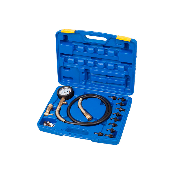 Манометр для измерения давления масла, 0-10 бар, комплект адаптеров,  МАСТАК 120-20010C фото