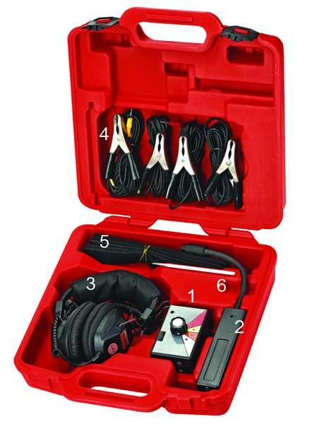 Стетоскоп электронный (наушники, тестер, зажимы, блок управления в комплекте). JTC-1449