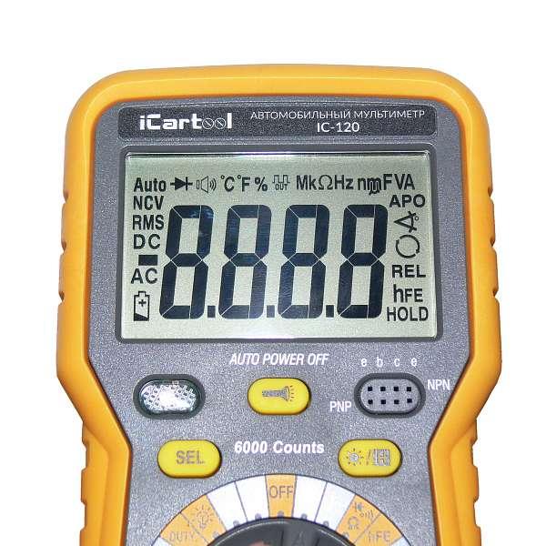 Автомобильный мультиметр IC-120 купить